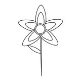Beautiful flower isolated icon vector illustration graphic design