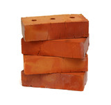 Stack of old red bricks - 189159089