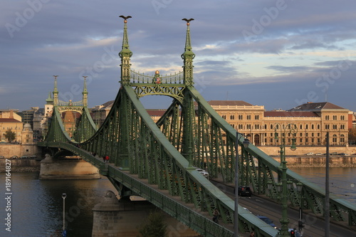 Obraz na płótnie liberty bridge of Budapest, Hungary