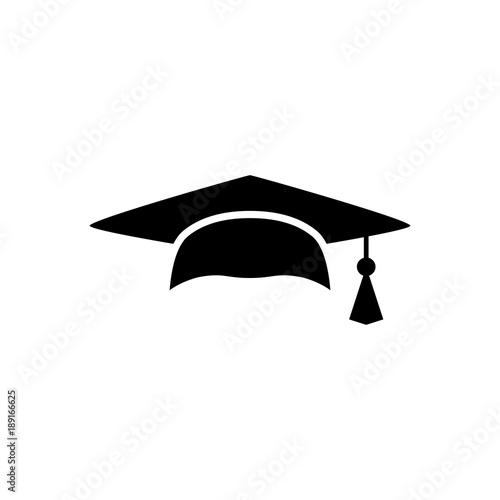 mortar board or graduation cap educator graduation icon education