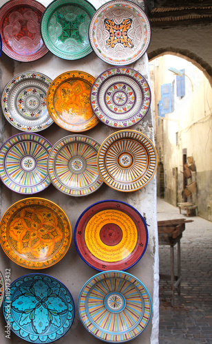 Fotobehang Marokko Traditional moroccan souvenirs on souk in Essaouira, Morocco, Africa