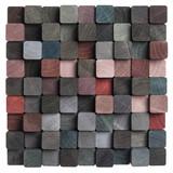 wood mosaic background - 189184880