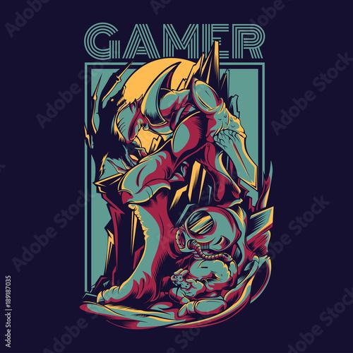 Plexiglas Graffiti Gamer