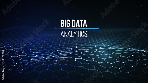 Background 3d Big Data Connection Cyber Technology Ai Tech