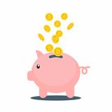 Sparschwein mit Bitcoins