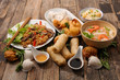 Quadro selection of asia food