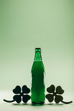 Green beer bottle. St. Patric's Day decoration - 189210857