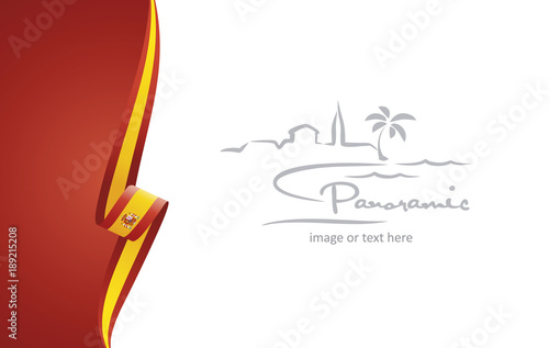 Spain abstract brochure cover poster background vector