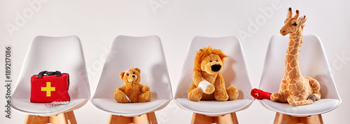 Animal toys in the waiting room of a hospital © exclusive-design