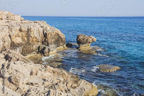 Keuken foto achterwand Cyprus Mediterranean sea landscape. Cavo Greco, Cyprus.