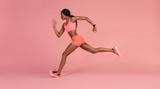 African female runne...