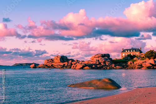 Foto op Aluminium Lichtroze Beach House