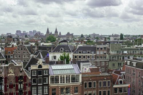 Deurstickers Amsterdam Ausblick auf Amsterdam