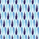 Hand drawn Dandelion leaves vector pattern in blue color palette