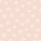 Cute colorful star seamless pattern on white. Funny festive background, wrapping paper. Vector illustration.  - 189235046