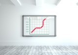 colorful chart statistics on wall board - 189236012