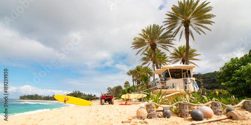 Fotobehang Strand Sunset Beach on Oahu's North Shore