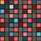 Geometric line repeat color pattern, background. Vector.