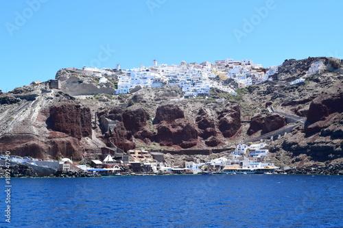 Fotobehang Santorini Cliff in Santorini