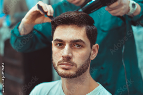 Men's hair styling and barbershop.