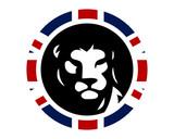 union jack lion leo image vector icon logo