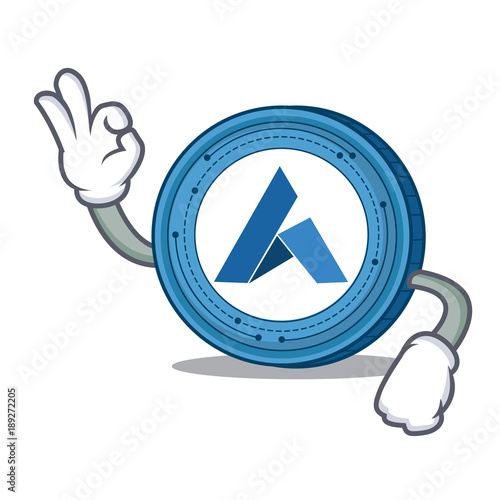 Okay Ardor coin character cartoon