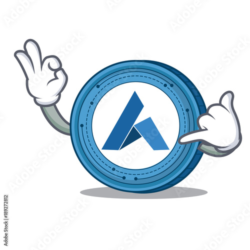 Call me Ardor coin mascot cartoon