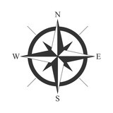 retro style compass icon, wind rose vintage compass icon - 189276681