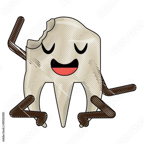 Obraz na płótnie kawaii tooth icon image