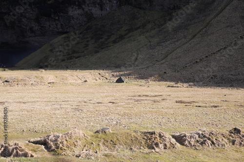 Fotobehang Zwart iceland