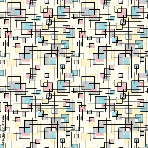 Stylish doodle background. Seamless pattern.Vector. スタイリッシュな落書きパターン