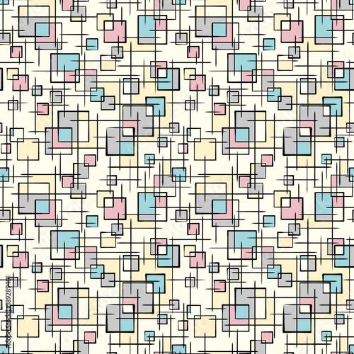 Aluminium Graffiti Stylish doodle background. Seamless pattern.Vector. スタイリッシュな落書きパターン