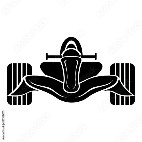 Fotobehang F1 Racing car formula icon, simple black style