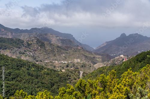 Foto Murales Fernsicht vom Anaga-Gebirge auf Teneriffa auf den Atlantischen Ozean