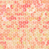 Watercolor mosaic. Bright summer pattern with watercolor cubes. - 189325263