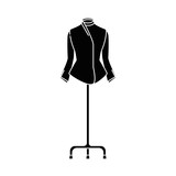 elegant blouse for women in manikin vector illustration design - 189330671