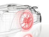 3D car mesh on a white - 189331443