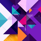 Abstract colorful geometric composition - 189341025