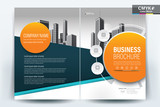 Modern business flyers brochure, annual report ,design templates, booklet, book cover in size a4