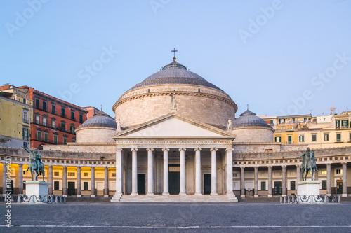 Aluminium Napels Piazza del Plebiscito a Naples