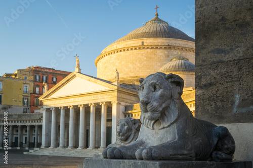 Tuinposter Napels Piazza del Plebiscito a Naples