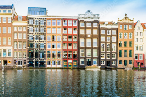 Canal houses of Amsterdam, Netherlands Poster