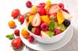 Quadro fruit salad in bowl
