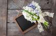 Leinwanddruck Bild - Blumenstrauss aus Hyazinthen