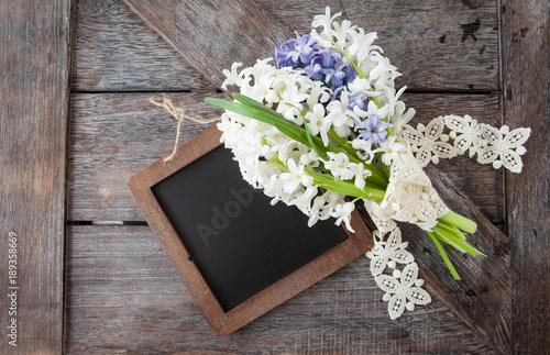 Leinwanddruck Bild Blumenstrauss aus Hyazinthen