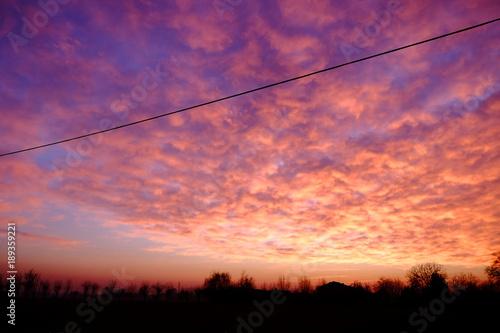 Fotobehang Koraal Sunset