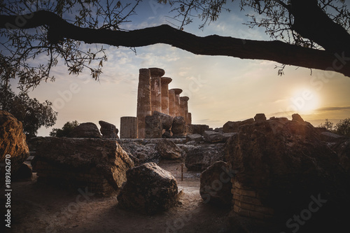 Sunset in the Valley of the Temples - Agrigento - Sicily