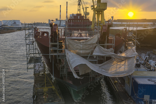 Renovation of the Polish Navy ship-ORP Poznan at the Repair Shipyard in Szczecin