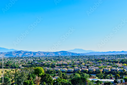 Foto op Aluminium Blauw Southern California valleys in the morning sun