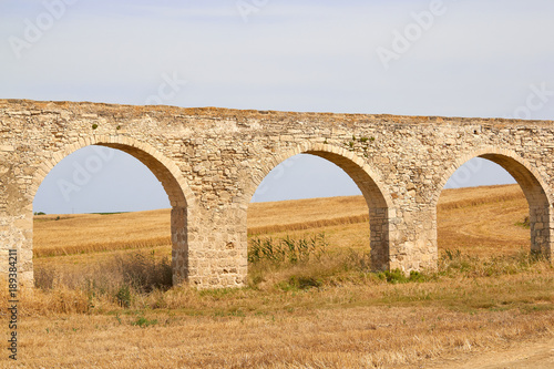 Foto op Canvas Cyprus Ancient Greek aqueduct in Larnaca, Cyprus